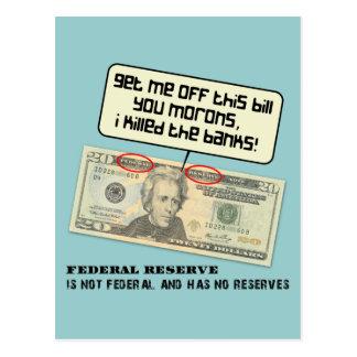 Andrew Jackson I mató a los bancos Postales