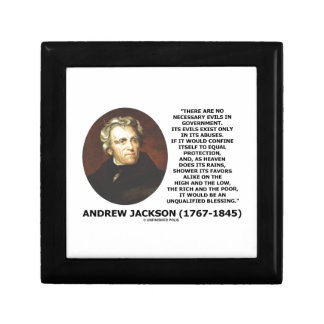 Andrew Jackson No Necessary Evils In Gov't Quote Gift Box
