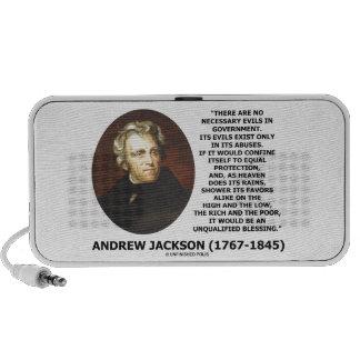 Andrew Jackson No Necessary Evils In Gov't Quote Laptop Speaker
