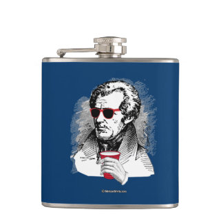 Andrew Jackson Party Animal Hip Flask