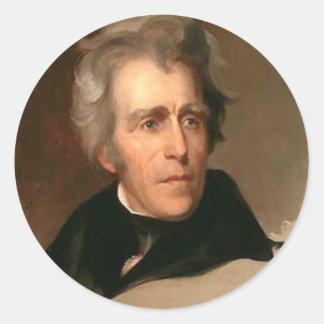 Andrew Jackson Pegatina Redonda