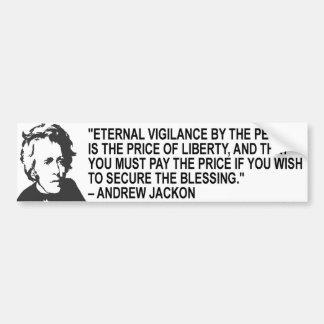Andrew Jackson Quote Bumper Sticker