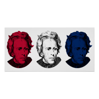 Andrew Jackson Red, White, and Blue Poster