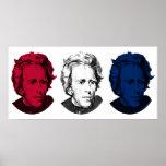 Andrew Jackson rojo, blanco, y azul Poster