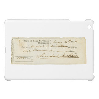 Andrew Jackson Signed Check from June 14th 1831 iPad Mini Cover