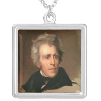 Andrew Jackson Silver Plated Necklace