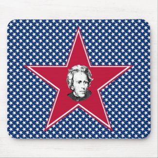 Andrew Jackson Star with Star Background mousepad