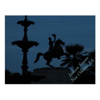 Andrew Jackson Statue, Jackson Square, New Orleans Postcard