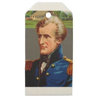 Andrew Jackson Vintage Wooden Gift Tags