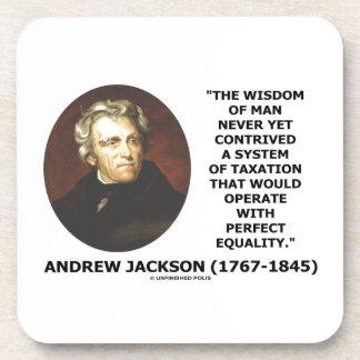 Andrew Jackson Wisdom Contrive Taxation Equality Beverage Coaster
