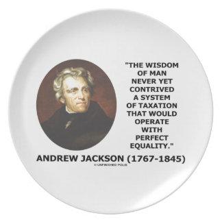 Andrew Jackson Wisdom Contrive Taxation Equality Melamine Plate