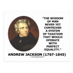 Andrew Jackson Wisdom Contrive Taxation Equality Post Cards