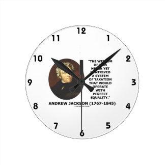 Andrew Jackson Wisdom Contrive Taxation Equality Round Clock