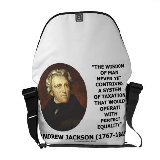 Andrew Jackson Wisdom Of Man System Of Taxation Courier Bag