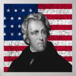 Andrew Jackson y la bandera de los E.E.U.U. Impresiones