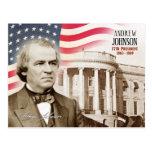 Andrew Johnson - 17mo presidente de los E.E.U.U. Tarjeta Postal