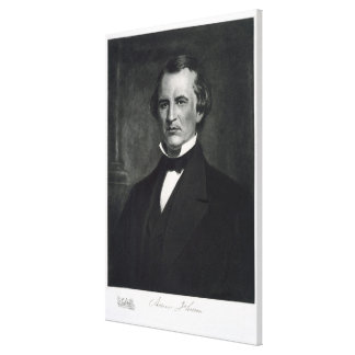 Andrew Johnson (1808-75), 17th President of the Un Gallery Wrapped Canvas