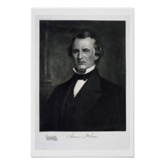 Andrew Johnson (1808-75), 17th President of the Un Print