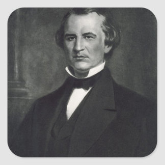 Andrew Johnson (1808-75), 17th President of the Un Square Sticker