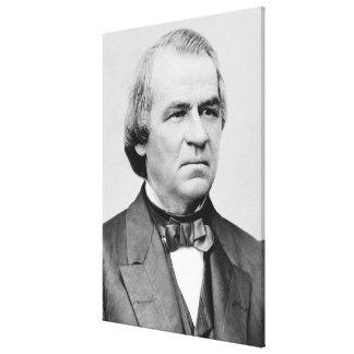 ANDREW JOHNSON Daguerreotype by Mathew Brady Stretched Canvas Print