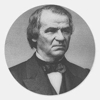 Andrew Johnson Pegatina Redonda