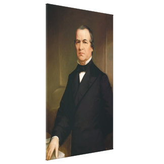 ANDREW JOHNSON Portrait by Washington B. Cooper Canvas Print