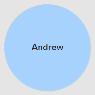 Andrew Light Blue  Kids Name Sticker Personalized