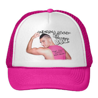 Andrew Liscio 25th Birthday Edition Trucker -Pink Trucker Hat