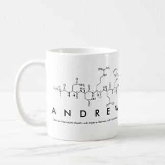 Andrew peptide name mug