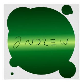 Andrew Poster - Green