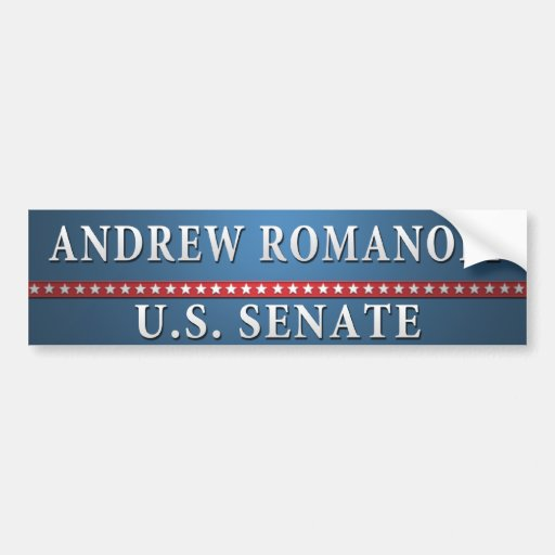Andrew-Romanoff.bumper Pegatina De Parachoque