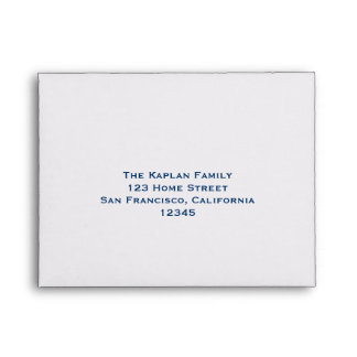 Andrew RSVP Bar Mitzvah Wedding Blue Lined Envelope