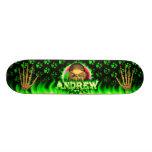 Andrew skull green fire Skatersollie skateboard