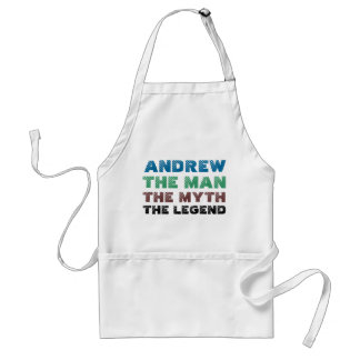 Andrew the man, the myth the legend adult apron