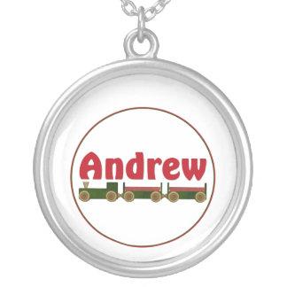 Andrew (train) round pendant necklace