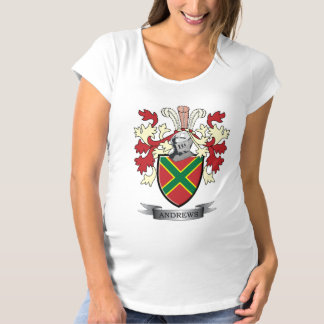 Andrews Family Crest Coat of Arms Maternity T-Shirt