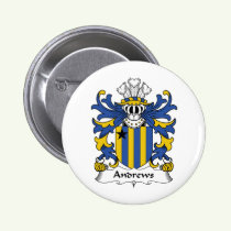 Andrews Family Crest Button