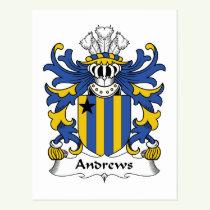 Andrews Family Crest Postcard