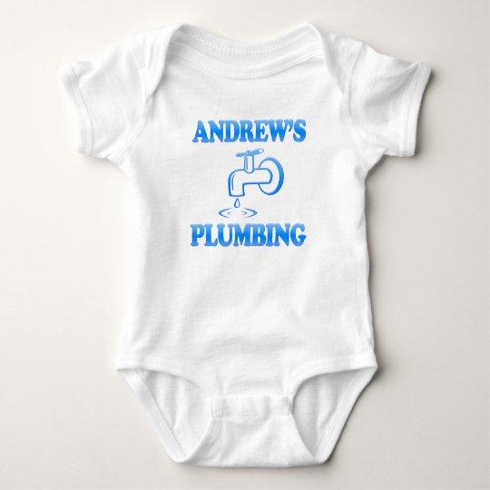 Andrew's Plumbing Baby Bodysuit