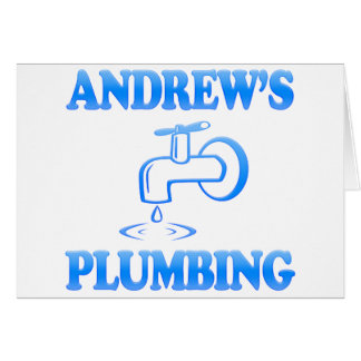 Andrew's Plumbing Greeting Card