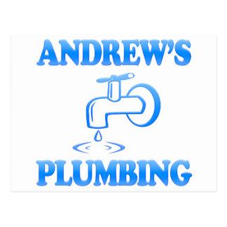 Andrew's Plumbing Postcard