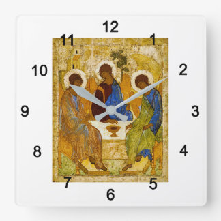 """Andrey Rublev, """"Holy Trinity"""" Square Wall Clock"""