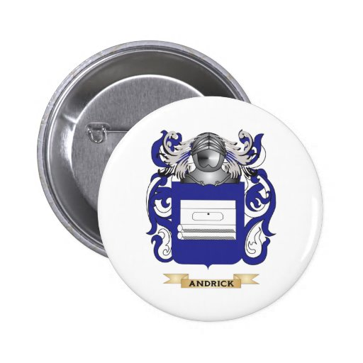 Andrick Coat of Arms (Family Crest) Pinback Button