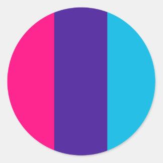 Androgyne pride flag classic round sticker