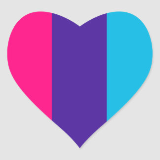 Androgyne pride flag heart sticker