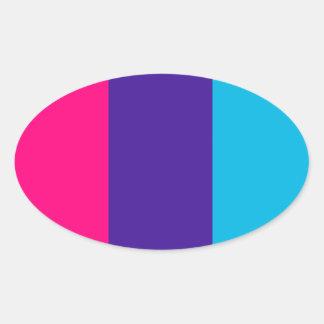 Androgyne pride flag oval sticker