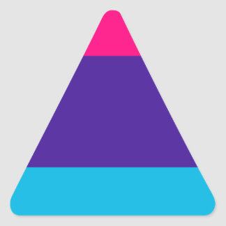 Androgyne pride flag triangle sticker