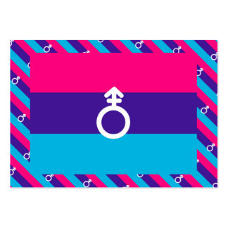 ANDROGYNE PRIDE PATTERN LARGE BUSINESS CARDS (Pack OF 100)