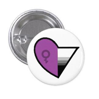Androgynoromantic Demisexual Pinback Button