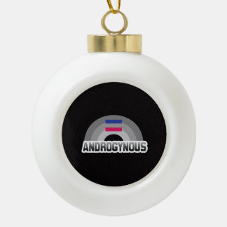 Androgynous Pride Ceramic Ball Christmas Ornament